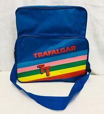 """Vintage 80's Trafalgar Travel Bag Crossbody Luggage Purse. 13-1/2"""" X 13"""" X 5-1/2"""