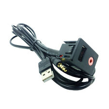 Car Auto 3.5mm USB AUX Headphone Male Jack Mount Adapter Panel Input Set