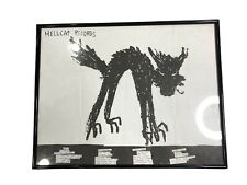 VTG 1997 HELLCAT RECORDS FRAMED PROMOTIONAL POSTER RANCID SWINGIN' UTTERS