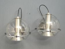 Zwei RAAK Wandleuchten Glas Chrom Aluminium Lightelijen