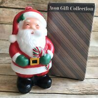 """Vintage Avon Gift Collection """"JOLLY SANTA"""" 5.5"""" Candle + Box - Brand New!"""