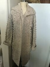 Vtg 60s/70s MOD Wool Cable Sweater Coat BOHO M/L Perfect Condition!!