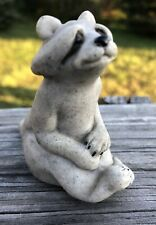 """Quarry Critters Rosie Racoon Figurine Gray Stone 2 1/2"""""""
