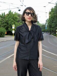 Schlager chemisier corsage noir argent pour femmes 80er rock pop schlager Costume