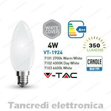Lampadina led V-TAC 4W E14 VT-1924 candela cover bianca filamento lampada opaca