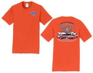11th Annual Corvette Reunion @ BACK TO THE BRICKS T Shirt ORANGE SIZE SMALL