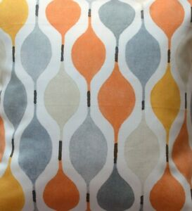 Verve Orange diamond fabric