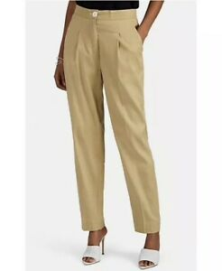 Robert Rodriguez Womens 8 Linen Blend Trouser Pants High Waisted NEW