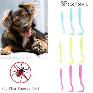 3pcs Ick Removal Tool Pet Supplies Tick Picker Flea Removal Tool Pet CombSKPFCA