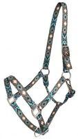 Showman Nylon Horse Size Halter With Cross and Diamond Design! HORSE TACK!