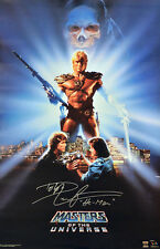 Dolph Lundgren HE-MAN Autographed MASTERS OF THE UNIVERSE 22x36 Poster ASI Proof