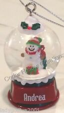 Personalized Snow Globe Ornament - Andrea - FREE Shipping