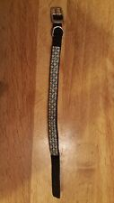 """Blue & White ~ 3 Rows of Crystal Rhinestones~Dog or Cat Collar~ 14""""L X 1/2"""" Wide"""