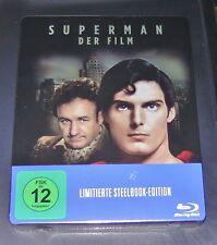SUPERMAN DER FILM  LIMITIERTE STEELBOOK BLU RAY SCHNELLER VERSAND NEU & OVP