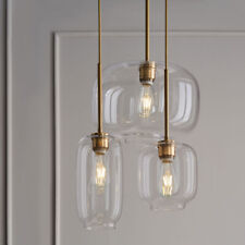 Modern Glass Hanging Pendant Light Chandelier Ceiling Fixtures 3 Lights Kitchen