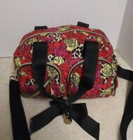 Betsey Johnson/Zip Around Floral w/ Bow/Cross Body Bag/New