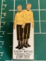 "Rare STAR TREK ""The Enemy Within"" Episode (1990) Cloisonne Pin-back pin."
