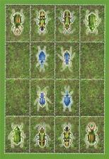 INSECT BEETLE REPUBLIC OF ABKHAZIA MNH STAMP SHEETLET