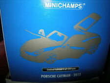 1:18 Minichamps Porsche Cayman 2013 Limited Edition 1 of 504 Nr 110062221 in OVP