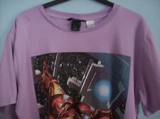 T Shirt H & M Unisex Young Marvel  Iron Man Light Purple Size EUR 170