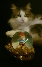 SNOW DOME /Snowglobe featuring Pirate on ship . VGC