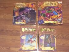 Lot of 4 Harry Potter Puzzles & Board Games Sorcerer's Stone MYSTERY TRIVIA