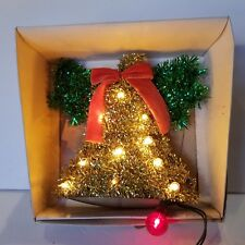 """Vintage Ge Merry Midgets Lighted Tinsel Bell 8"""" Indoor in Box!"""