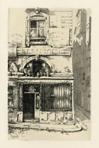 Ernest Laborde original etching Dunkirk