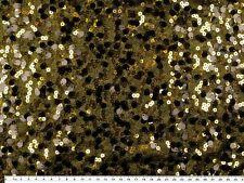 Glitzer-jersey mit Pailletten Schwarz-gold 130cm