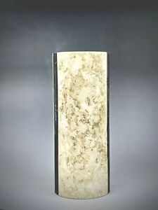 Natural Marble Vase Stylish Interior Accent Cream with Contrasting Black Stripes