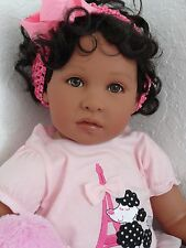 "Reborn 22"" Toddler Girl  Doll ""Journey""- African American/Biracial/ethnic"