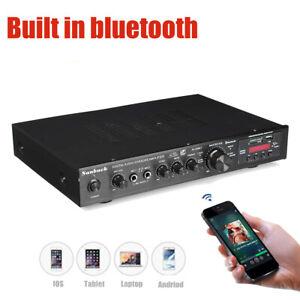 1000W Digital 5CH Bluetooth Stereo HIFI USB Audio Power Amplifier Remote Control