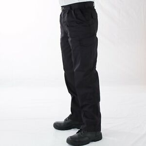 Mens Smart Work Trousers Durable Trade Pro 28 to 44 Black or Navy VT14