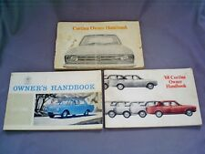 3X 1960s VINTAGE FORD CORTINA OWNERS HANDBOOKS/GENERAL CARE & MAINTENANCE ETC...