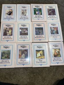 Elsie Dinsmore Series - Books 1-12 Hardcover EUC Pink Martha Finley