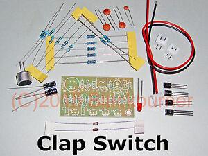 1 Bausatz Klatschschalter Akustik Sensor clap switch Modul, 5V, DIY Kit, NEU