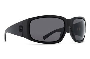 Von Zipper PALOOKA Sunglasses Black Satin - ANSI Grey Polarised Len SMPFEPAL_ASP