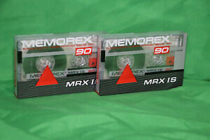 2 x Memorex - MRX IS 90 - Cassette Tapes - New and Sealed