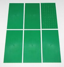 LEGO LOT OF 6 NEW GREEN 8 X 16 TILES FLAT SMOOTH PIECES PARTS