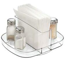 iDesign Linus Plastic Lazy Susan Napkin and Condiments Turntable Holder for