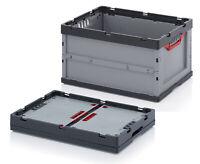Auer Faltbox mit Deckel 2er Set Klappbox Stapelbox Lager Transportbox 60x40x32cm