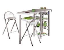 Interlink - links Frida / table Bar 2 tabourets Blanc