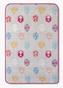 NWT - Marvel Secret Warriors Rising Logo Plush Throw Blanket - Gray - 46 x 60 in
