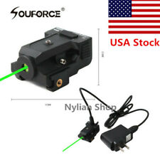 Usb Rechargeable Micro Green Laser Sight 20mm rail For Rifle Pistol gun Hunting
