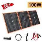 100W Portable Foldable Solar Panel Car Battery Charger/RV/Garden/Home Camping US