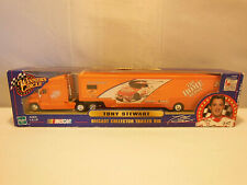 NASCAR RACING #20 TONY STEWART 1/64th  DIECAST COLLECTOR TRAILER RIG  UNOPENED