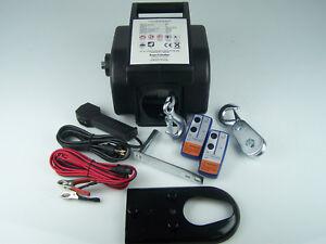 Elektrische Seilwinde Motorwinde Winde 12V Bootwinde bis 8600kg Last Funk NEU !