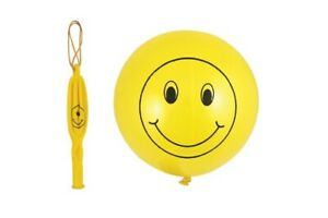 Punch Balloon Ball Smiley Face Party Bag Filler Pocket Money Xmas Stocking Toy
