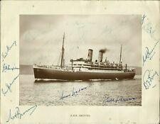 More details for rms orontes photo, originally signed by nineteen 1948 australians, v.rare!