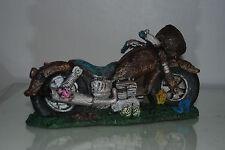Aquarium Old Vintage Motorcycle Decoration With Bubble Exhaust 23 x 9 x 12 cms